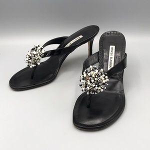 Manolo Blahnik Shell Sandal Heels